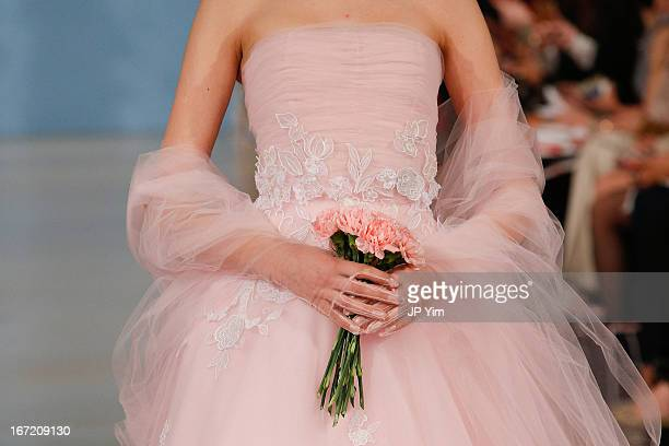 A model walks the runway during the Oscar de la Renta 2014 Bridal Spring/Summer collection show on April 22 2013 in New York City