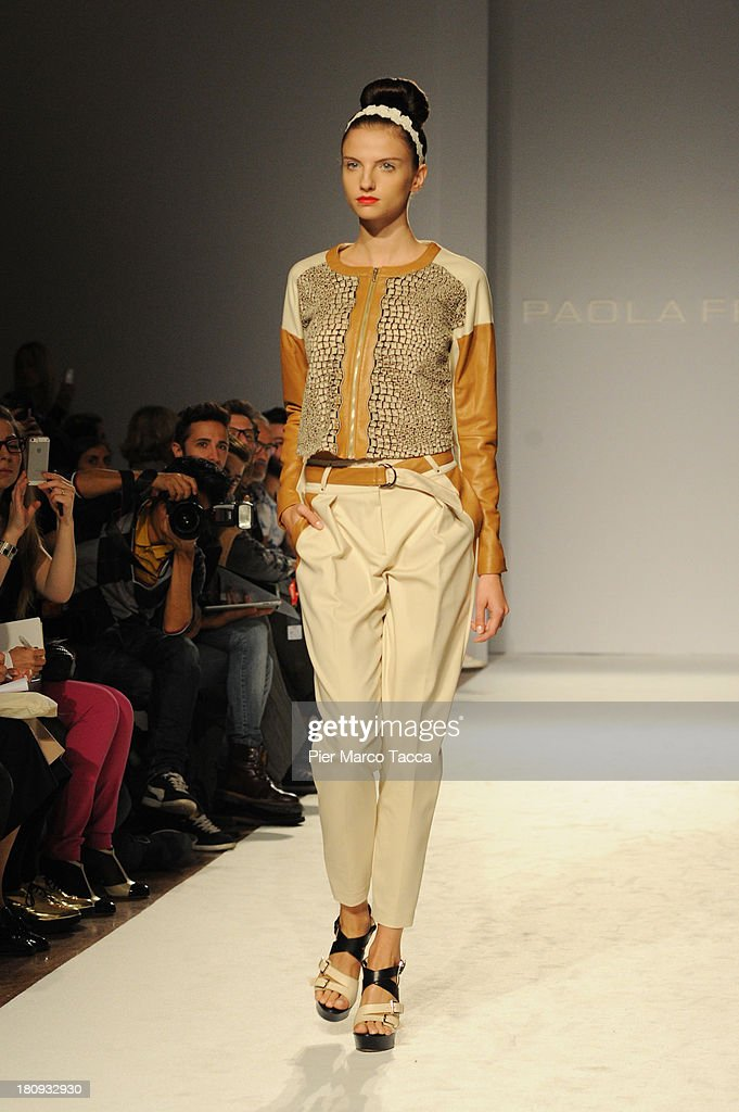 A model walks the runway during the Paola Frani show as a part of Milan Fashion Week Womenswear Spring/Summer 2014 on September 18, 2013 in Milan, Italy.