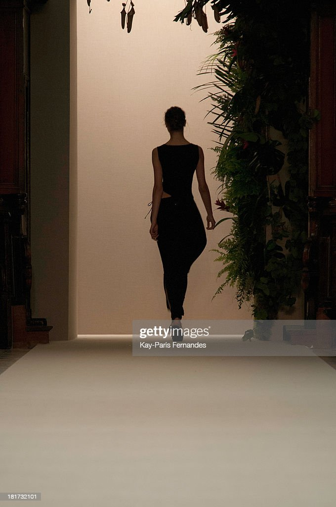 A model walks the runway during the Pascal Millet show as part of the Paris Fashion Week Womenswear Spring/Summer 2014 on September 24, 2013 in Paris, France.