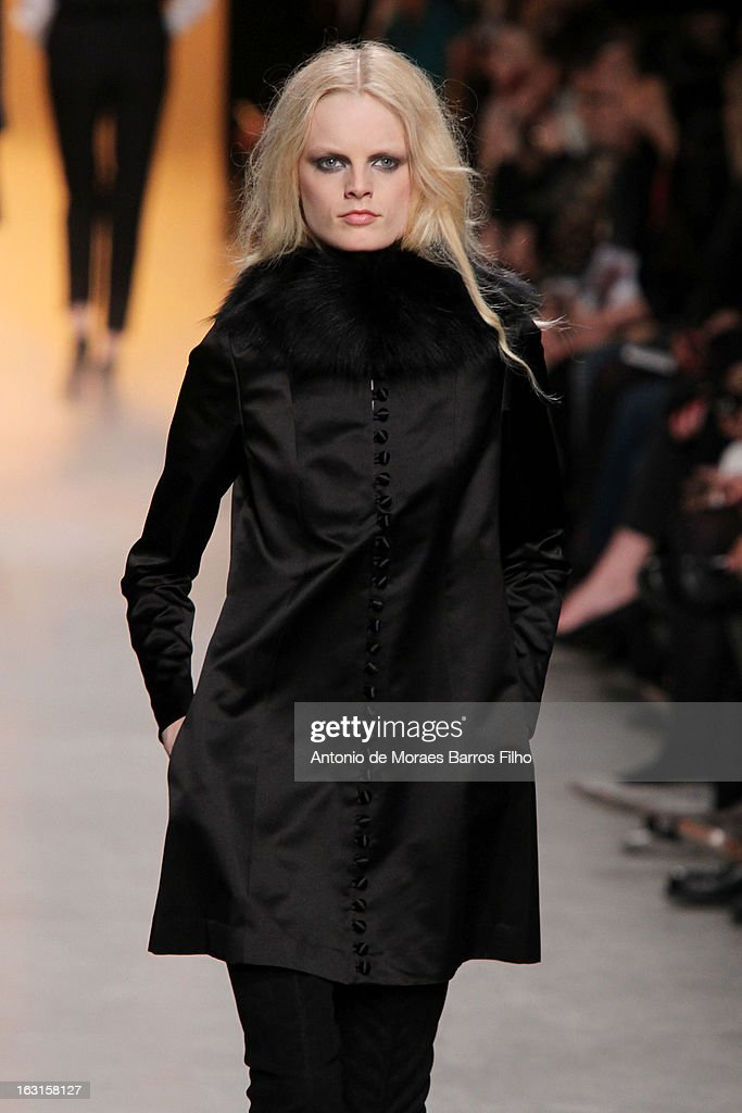 A model walks the runway during the Paul & Jo Fall/Winter 2013 Ready-to-Wear show as part of Paris Fashion Week on March 5, 2013 in Paris, France.