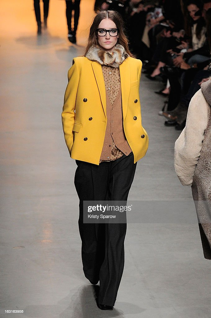 A model walks the runway during the Paul & Joe Fall/Winter 2013/14 Ready-to-Wear show as part of Paris Fashion Week on March 5, 2013 in Paris, France.