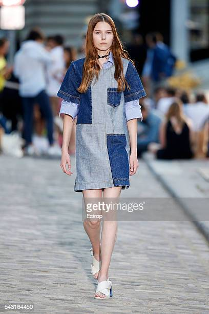 A model walks the runway during the Paul Joe Menswear Spring/Summer 2017 show designed by Sophie Albou as part of Paris Fashion Week on June 24 2016...