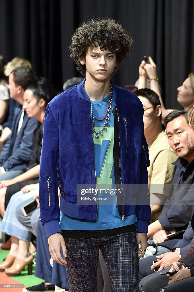 A model walks the runway during the Paul Smith Menswear Spring/Summer 2017 show as part of Paris Fashion Week on June 26, 2016 in Paris, France.