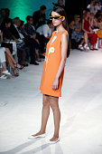 Model walks the Runway during the Pierre Cardin Collection At Gare de Bonnieux as part of Paris Fashion Week on July 9 2016 in Bonnieux France