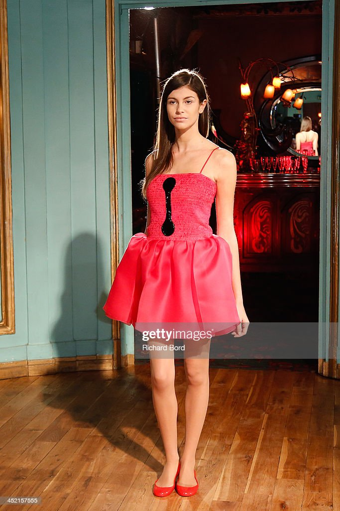 A model walks the runway during the Pierre Cardin Paris Haute Couture New Collection launch at Maxim's on November 26, 2013 in Paris, France.