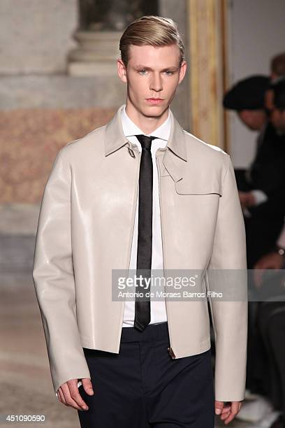 A model walks the runway during the Ports 1961 show as a part of Milan Fashion Week Menswear Spring/Summer 2015 on June 23 2014 in Milan Italy