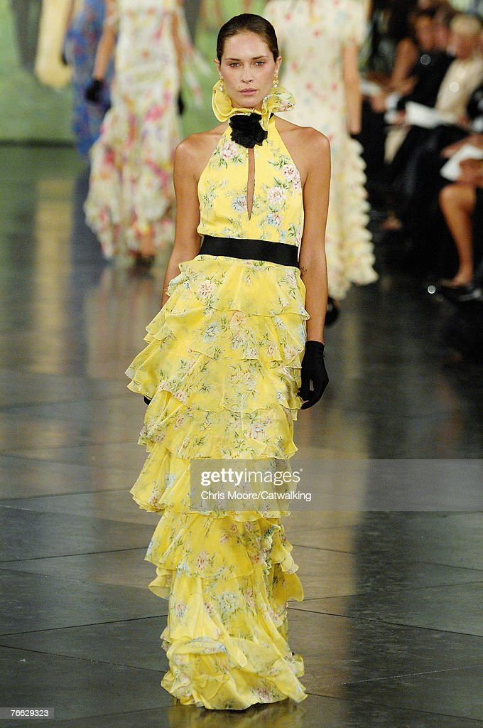 A model walks the runway during the Ralph Lauren 2008 Fashion Show at during the Mercedes-Benz Fashion Week Spring 2008 on September 8, 2007 in New York City.