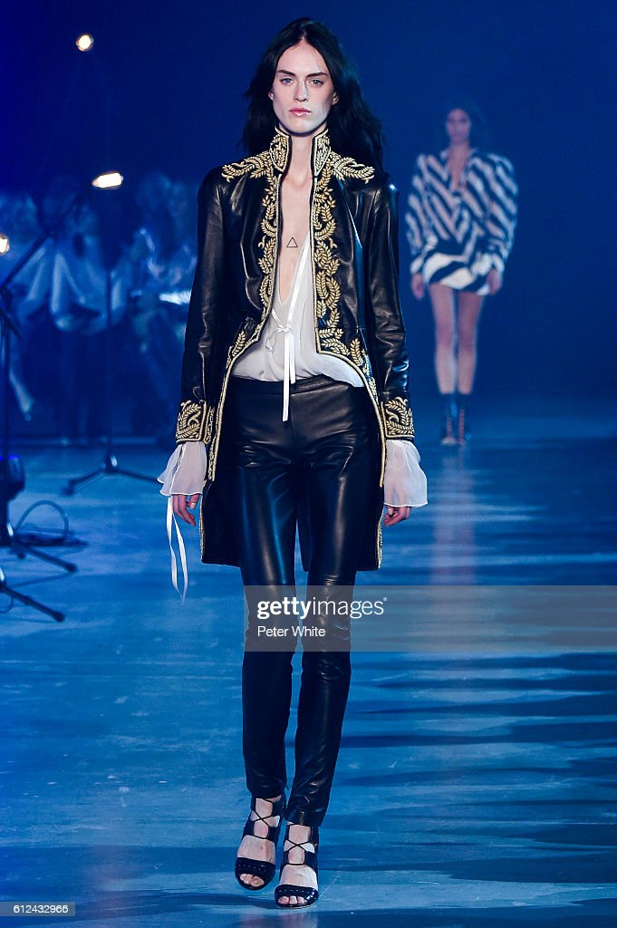 model-walks-the-runway-during-the-redemption-show-as-part-of-the-picture-id612432966