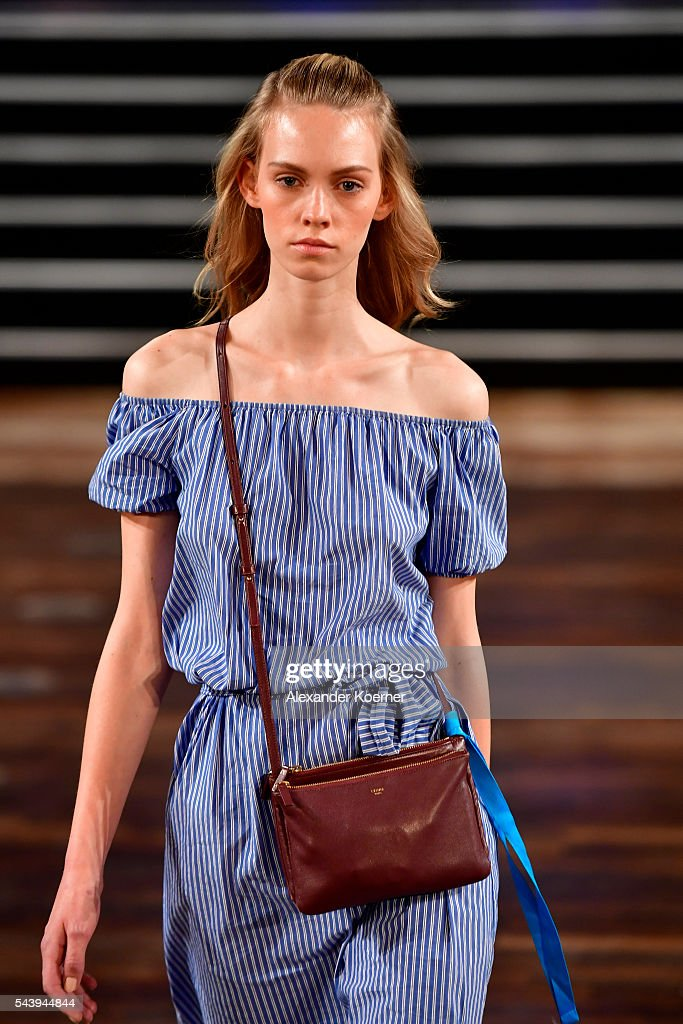 A model walks the runway during the rehearsal ahead of at the Marcel Ostertag show during the Mercedes-Benz Fashion Week Berlin Spring/Summer 2017 at Admiralspalast on June 30, 2016 in Berlin, Germany.