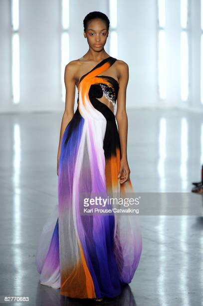 A model walks the runway during the Rodarte spring summer 2009 fashion show part of the MercedesBenz Fashion Week in New York on September 9 2008