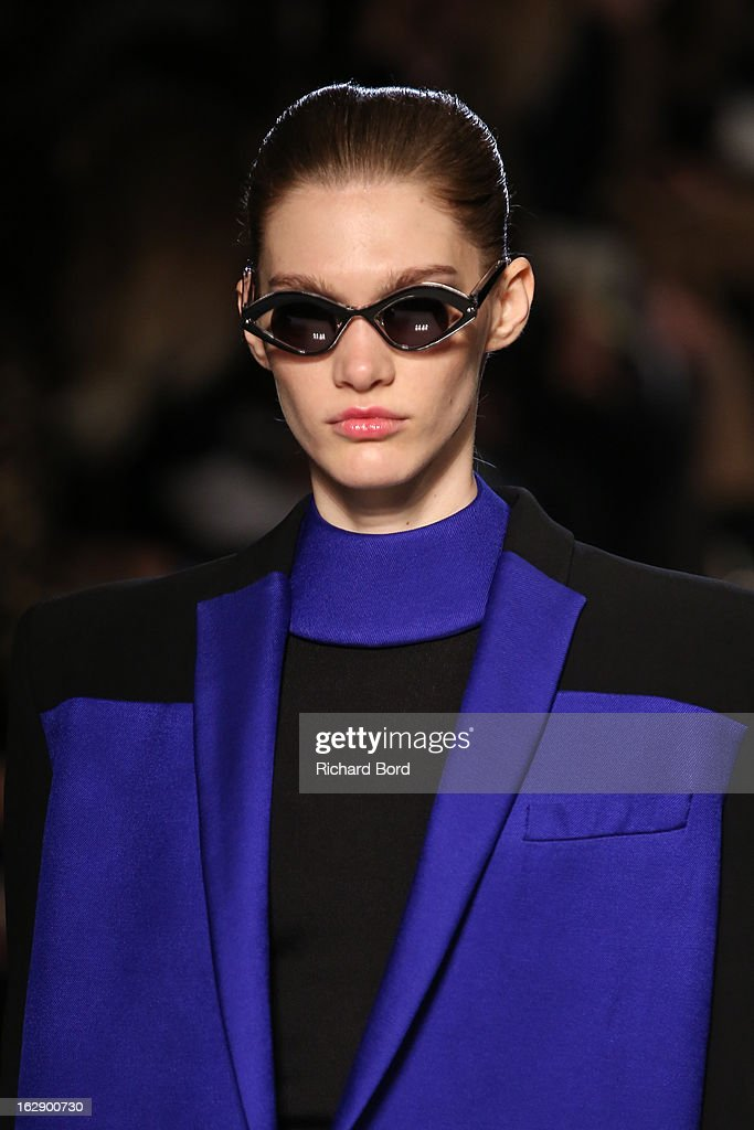 A model walks the runway during the Roland Mouret Fall/Winter 2013 Ready-to-Wear show as part of Paris Fashion Week at Hotel Westin on March 1, 2013 in Paris, France.