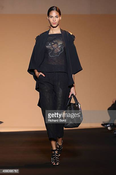 A model walks the runway during the Roland Mouret show as part of the Paris Fashion Week Womenswear Spring/Summer 2015 on September 25 2014 in Paris...