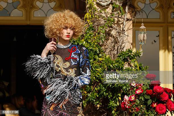 A model walks the runway during the Romance Was Born show at MercedesBenz Fashion Week Resort 17 Collections at Carthona Darling Point on May 18 2016...