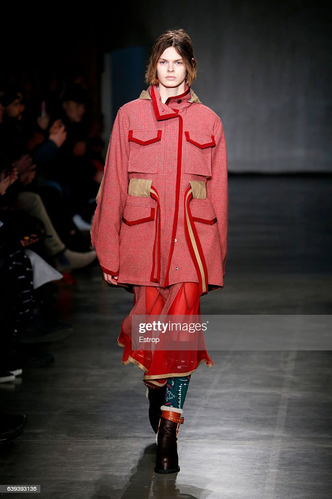 model-walks-the-runway-during-the-sacai-designed-by-chitose-abe-picture-id639393136