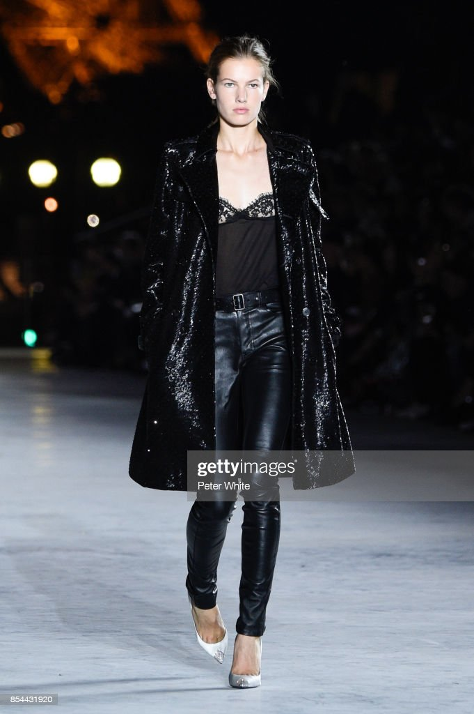 model-walks-the-runway-during-the-saint-laurent-show-as-part-of-the-picture-id854431920