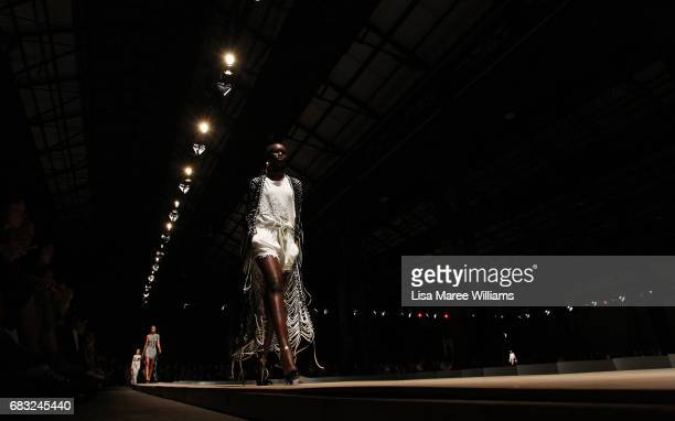 A model walks the runway during the Sass Bide show at MercedesBenz Fashion Week Resort 18 Collections at Bay 2224 Carriageworks on May 15 2017 in...