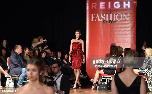 A model walks the runway during the Secret Fashion Show at Alte Kongresshalle on May 15 2017 in Munich Germany