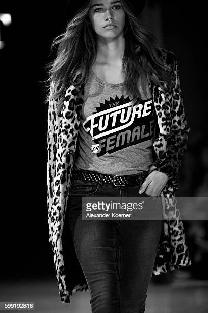 A model walks the runway during the 'Set' show at the Bread Butter by Zalando at arena Berlin on September 4 2016 in Berlin Germany
