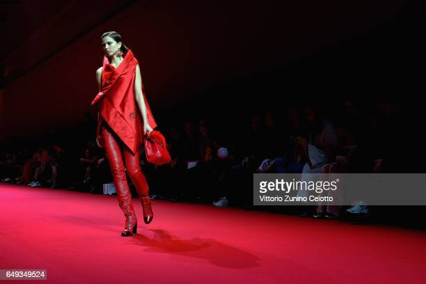 A model walks the runway during the Shatzy Chen show during Paris Fashion Week Womenswear Fall/Winter 2017/2018 on March 7 2017 in Paris France
