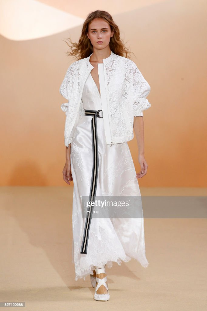 model-walks-the-runway-during-the-shiatzy-chen-paris-show-as-part-of-picture-id857120688