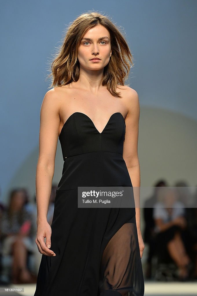 A model walks the runway during the Sportmax show as a part of Milan Fashion Week Womenswear Spring/Summer 2014 on September 20, 2013 in Milan, Italy.