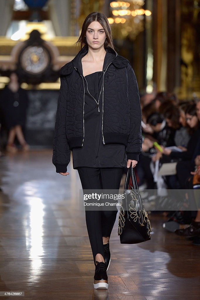 A model walks the runway during the Stella McCartney show as part of the Paris Fashion Week Womenswear Fall/Winter 2014-2015 on March 3, 2014 in Paris, France.