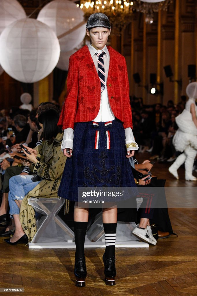 model-walks-the-runway-during-the-thom-browne-fashion-show-as-part-of-picture-id857285074