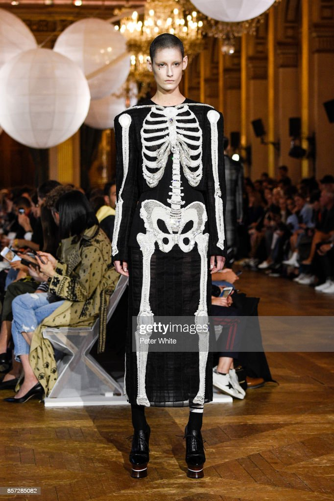 model-walks-the-runway-during-the-thom-browne-fashion-show-as-part-of-picture-id857285082