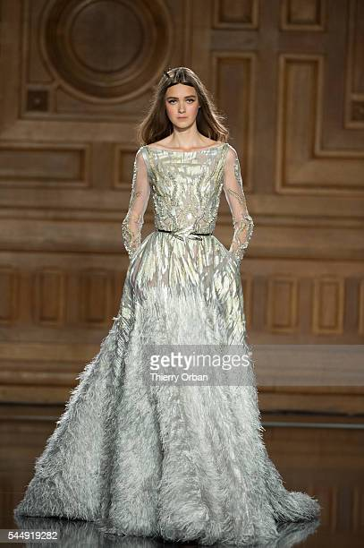 A model walks the runway during the Tony Ward Haute Couture Fall/Winter 20162017 show as part of Paris Fashion Week on July 4 2016 in Paris France