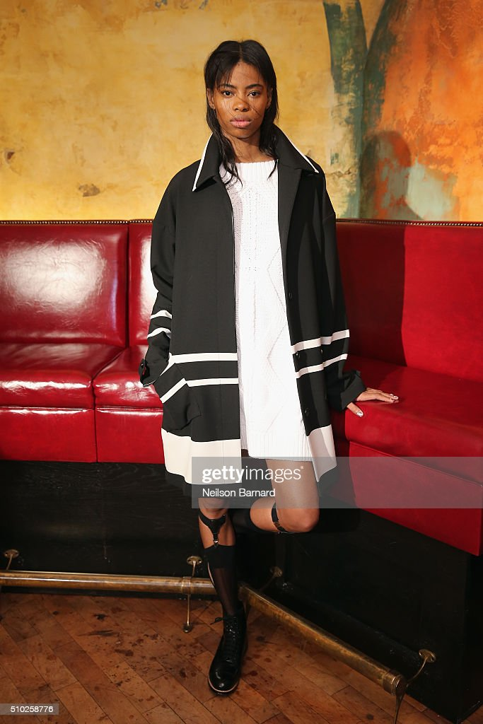 A model walks the runway during the Tracy Reese runway at Roxy Hotel on February 14, 2016 in New York City.