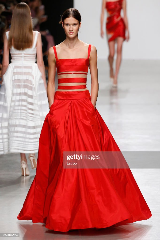 model-walks-the-runway-during-the-valentin-yudashkin-paris-show-as-picture-id857045124