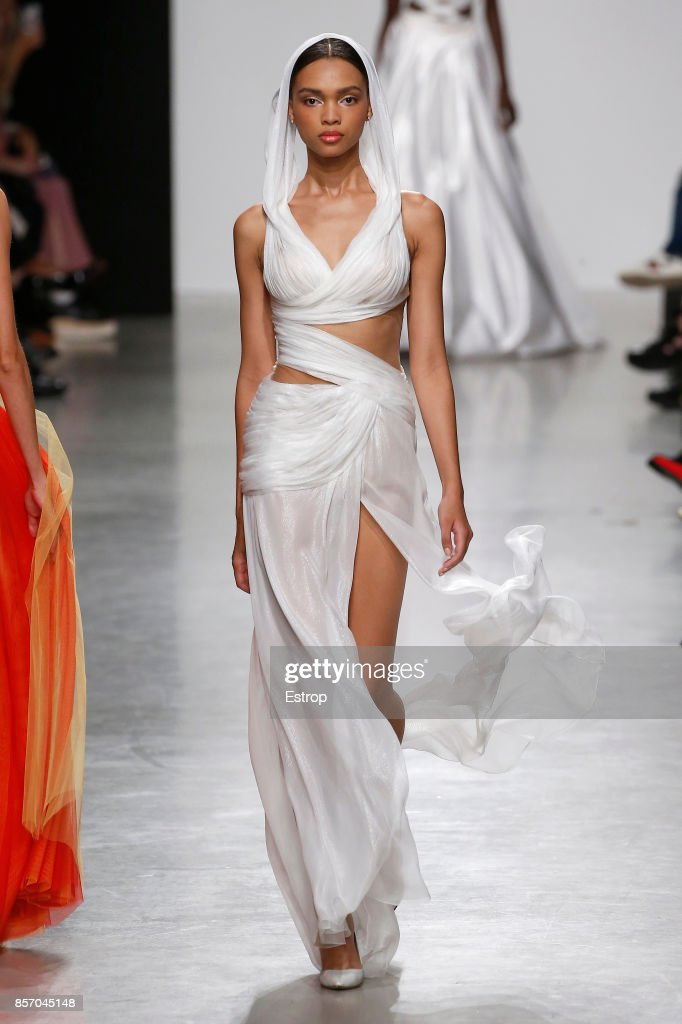 model-walks-the-runway-during-the-valentin-yudashkin-paris-show-as-picture-id857045148