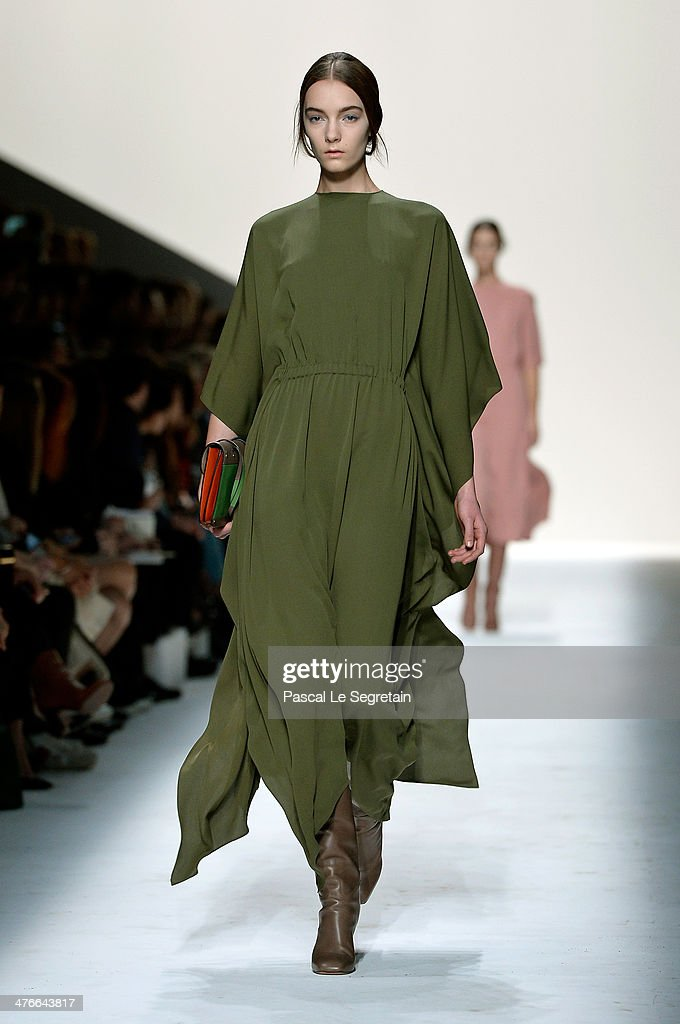 A model walks the runway during the Valentino show as part of the Paris Fashion Week Womenswear Fall/Winter 2014-2015 on March 4, 2014 in Paris, France.