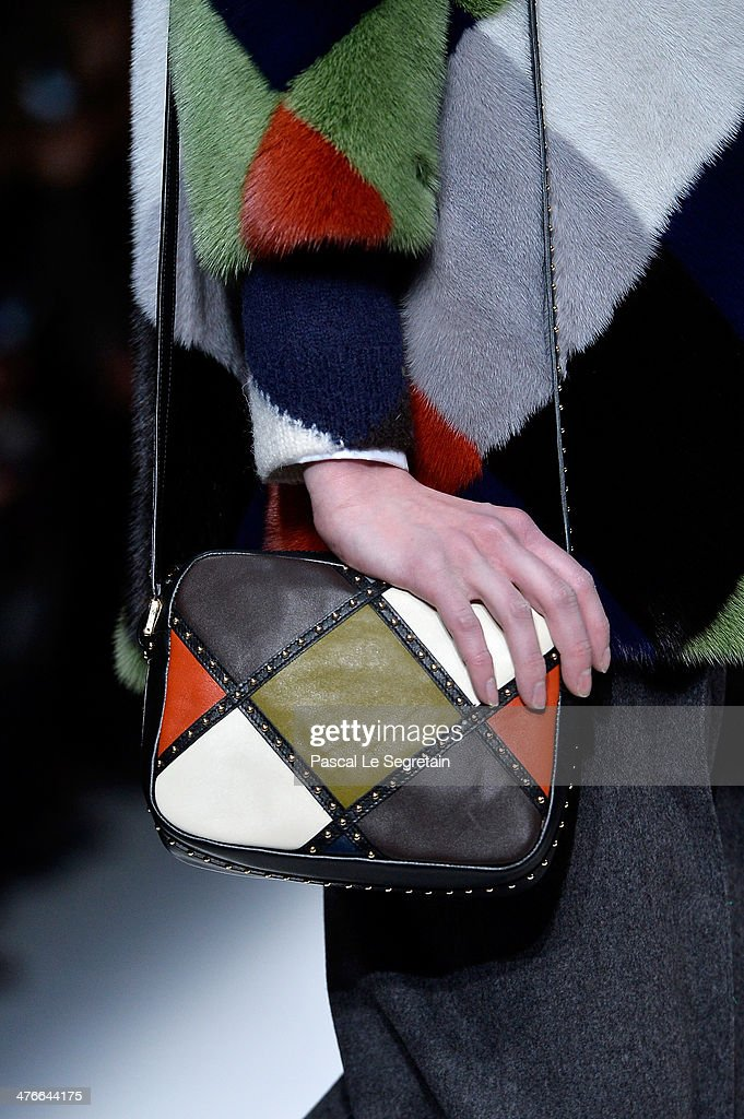 A model (detail) walks the runway during the Valentino show as part of the Paris Fashion Week Womenswear Fall/Winter 2014-2015 on March 4, 2014 in Paris, France.