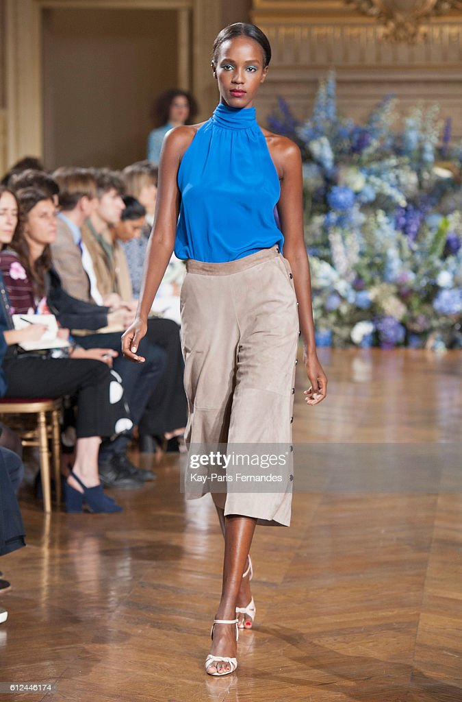 model-walks-the-runway-during-the-vanessa-seward-fashion-show-as-part-picture-id612446174