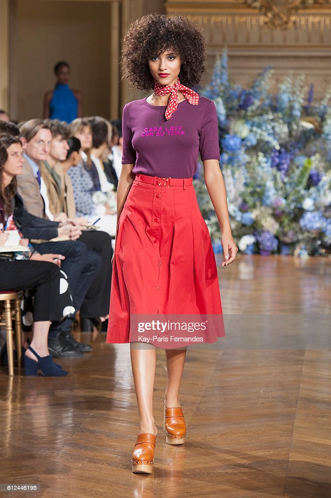 model-walks-the-runway-during-the-vanessa-seward-fashion-show-as-part-picture-id612446196
