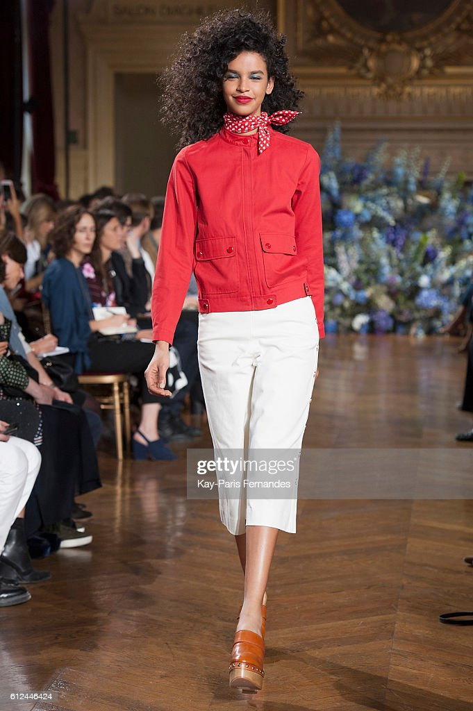 model-walks-the-runway-during-the-vanessa-seward-fashion-show-as-part-picture-id612446424