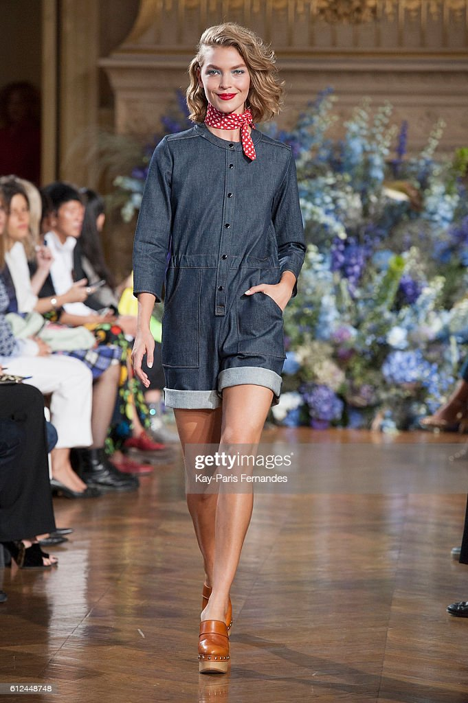 model-walks-the-runway-during-the-vanessa-seward-fashion-show-as-part-picture-id612448748