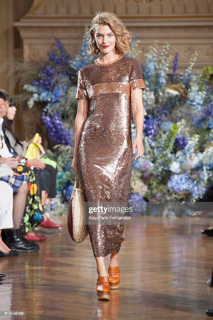 model-walks-the-runway-during-the-vanessa-seward-fashion-show-as-part-picture-id612448768