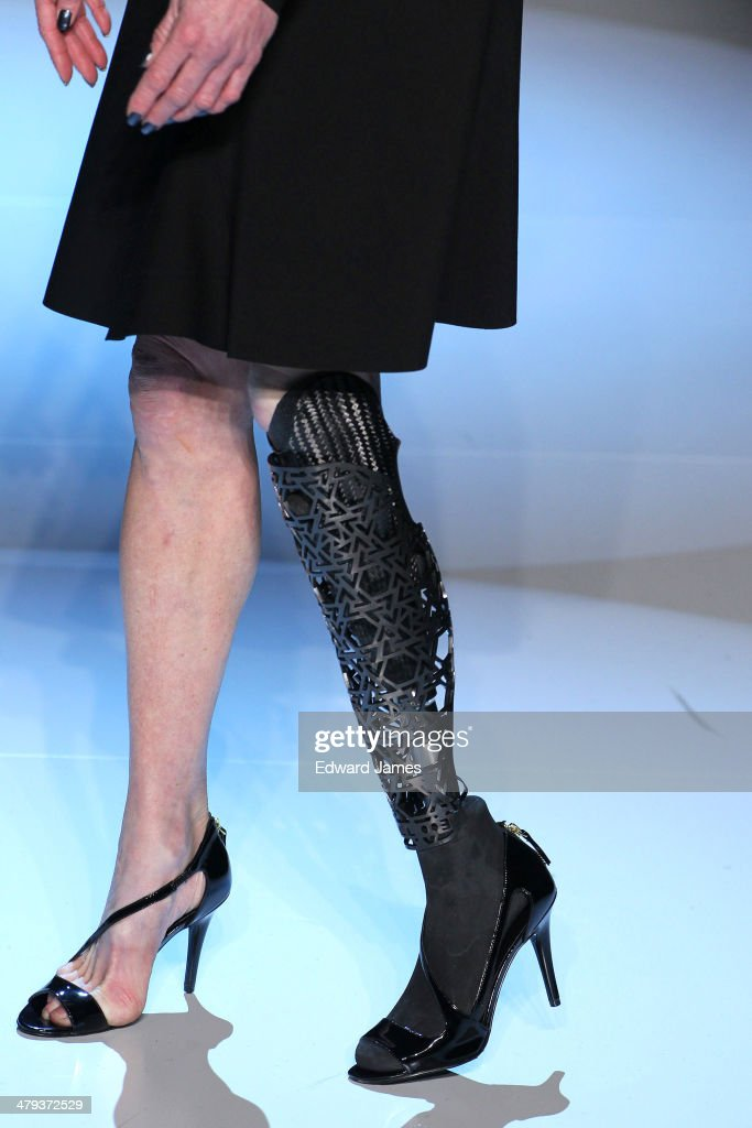 A model walks the runway during the Vawk fashion show during World Mastercard fashion week on March 17, 2014 in Toronto, Canada.