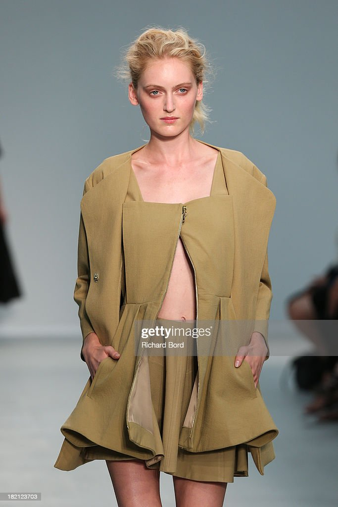 A model walks the runway during the Veronique Leroy show at Palais de Tokyo as part of the Paris Fashion Week Womenswear Spring/Summer 2014 on September 28, 2013 in Paris, France.