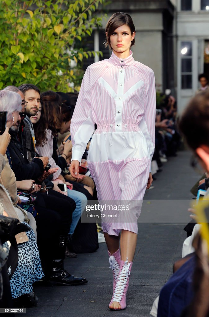 model-walks-the-runway-during-the-victoriatomas-show-as-part-of-the-picture-id854220744