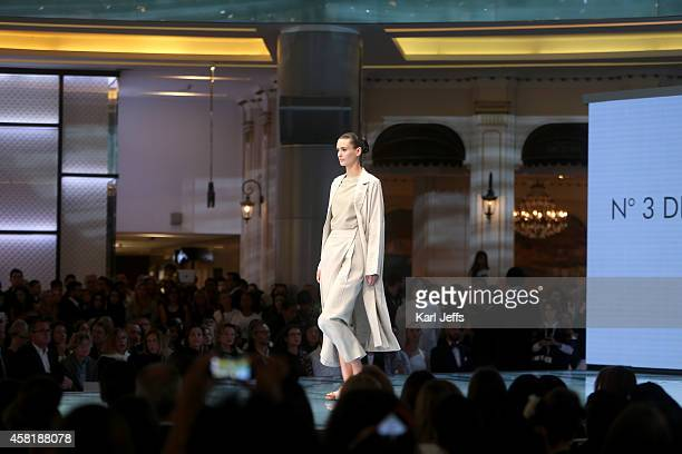A model walks the runway during the Vogue Fashion Dubai Experience on October 30 2014 in Dubai United Arab Emirates