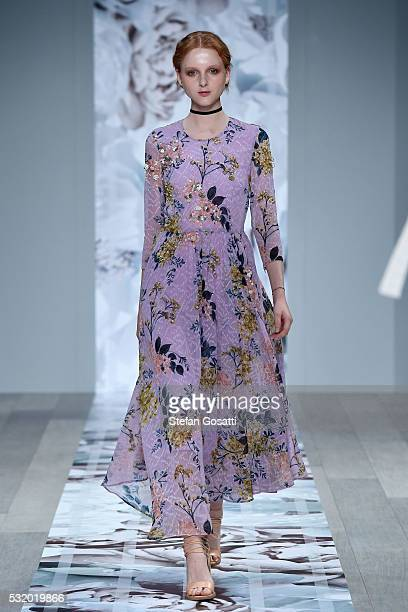 A model walks the runway during the We Are Kindred show at MercedesBenz Fashion Week Resort 17 Collections at Carriageworks on May 18 2016 in Sydney...