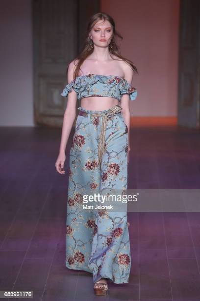 A model walks the runway during the We Are Kindred show at MercedesBenz Fashion Week Resort 18 Collections at Carriageworks on May 17 2017 in Sydney...