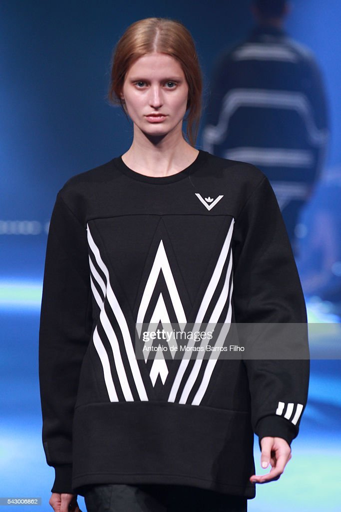 A model walks the runway during the White Mountaineering Menswear Spring/Summer 2017 show as part of Paris Fashion Week on June 25, 2016 in Paris, France.