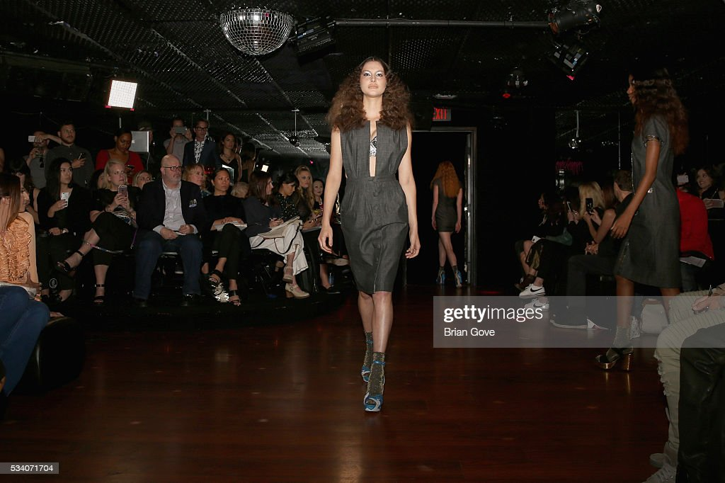 A model walks the runway during the Wolk Morais Collection 3 Fashion Show on May 24, 2016 in Sacramento, California.
