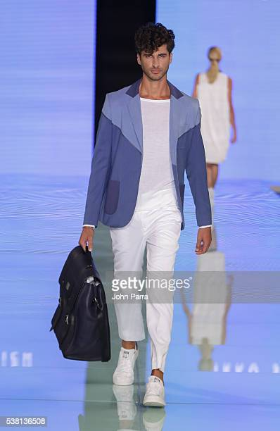 A model walks the runway during the Yirko Sivirich show at Miami Fashion Week at Ice Palace on June 3 2016 in Miami Florida