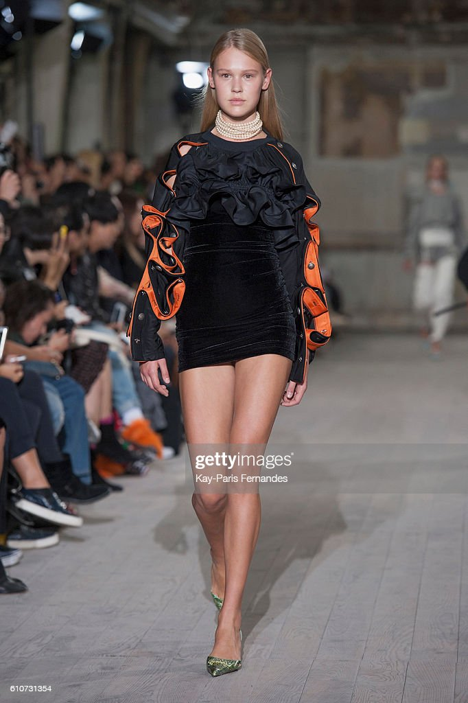 model-walks-the-runway-during-the-yproject-show-as-part-of-the-paris-picture-id610731354