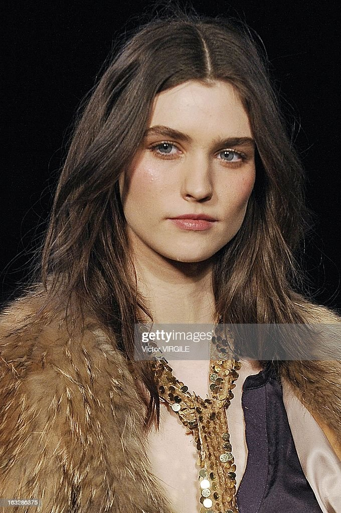 A model walks the runway during the Zadig & Voltaire Fall/Winter 2013 Ready-to-Wear show as part of Paris Fashion Week at Hotel Westin on March 5, 2013 in Paris, France.